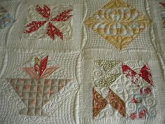 A Quilting Life....love the way this is quilted