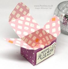 Stampin' Up! Demonstrator Pootles - Playful Palette Envelope Punch Board Versatile Box