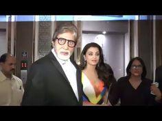 Aishwarya Rai with Amitabh Bachchan at Hello Hall Of Fame Awards 2016.