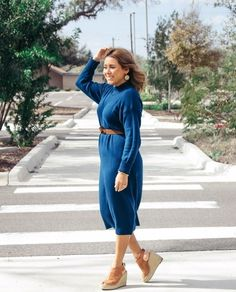 Blue Sweater Dress #