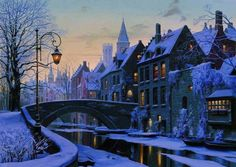 Winter in Brugge, Bruges, België, Belgium Beautiful World, Beautiful Places, Wonderful Places, Beautiful Scenery, Lovely Things, Amazing Places, Winter Szenen, Winter Night, Winter Time