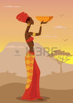 Ilustraci�n del vector de la Mujer Africana photo