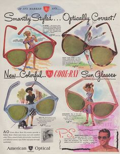 coolray, 1947. sadly, this fabulous ad has been ruined by red ink bleed-through from another page.