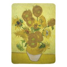 Sunflowers by Vincent Van Gogh Receiving Blankets
