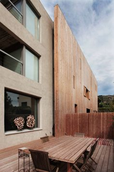 urban house, Barcelona city , luxury housing, cases de luxe,high end real estate, city noise,wooden facade, secluded swimming pool, Interior View,Wooden facade