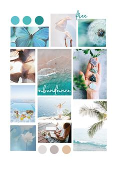 Aesthetic Collage, Blue Aesthetic, Teal Wallpaper, Branding, Brand Identity, Aesthetic Photography Nature, Web Design, Colour Schemes, Green Turquoise