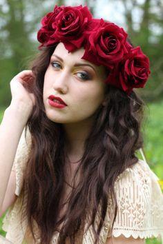 snow white flower crown - Google Search