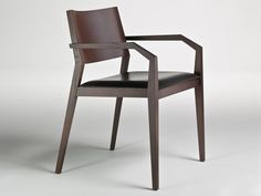 Oak chair with armrests MAGISTRA by i 4 Mariani | design Alessandro Dubini