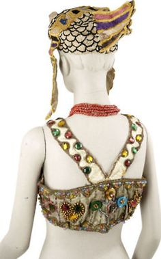 "Theda Bara's 1917 ""Cleopatra"" Falcon Coronation Crown and Bra"