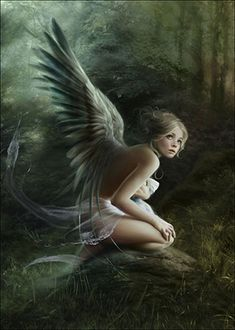 Beyond Belief  by Mélanie Delon - Illustrator Magical Creatures, Fantasy Creatures, Melanie Delon, Art Magique, Angel Falls, I Believe In Angels, Ange Demon, Digital Painting Tutorials, Digital Paintings