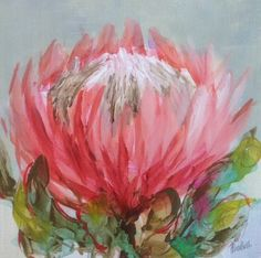 The product Inky protea 2 is sold by Heidi Shedlock Fine Art in our Tictail… Protea Art, Protea Flower, Australian Native Flowers, Australian Wildflowers, Paintings I Love, Floral Paintings, Oil Paintings, Floral Drawing, Magnolia Flower