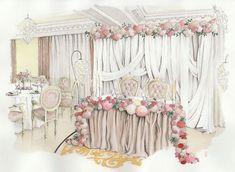 Свадебные эскизы – уникальная возможность увидеть свое торжество задолго до заветного дня, правда, только на бумаге. И речь идет, конечно же, об эскизах.