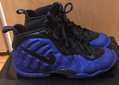 f6145175b1 Nike Little Posite Pro Cobalt Blue And Black Youth Size 5.5