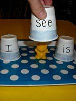 Teach sight words with these fun sight word activities for kids in preschool, kindergarten, and first grade. Kindergarten Literacy, Kindergarten Reading, Teaching Reading, Fun Learning, Reading Games, Kindergarten Sight Word Games, Literacy Centers, Early Literacy, Preschool Phonics