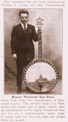 [ƒrettedchordophone 2014] More Giant Banjos and worried men who have to play them --- https://www.pinterest.com/lardyfatboy/