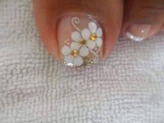 Resultado de imagen para decoracion de uñas de los pies Pedicure Nail Art, Pedicure Designs, Toe Nail Designs, Nail Polish Designs, Toe Nail Art, Pretty Toe Nails, Cute Toe Nails, Feet Nails, Toenails
