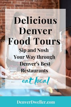 Delicious Denver Food Tours explores Denver's booming food scene with yummy bites, fresh libations, and charming stories about Denver restaurants, history and art. It's perfect for visitors who want to get a taste of the city and locals who want a behind-the-scenes peek at local favorites. Follow along as we nosh and day-drink our way through some of Denver's best restaurants! #eatlocal #Denverfoodies