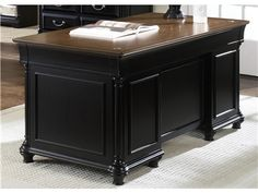 Shop for Liberty Furniture Jr Executive Desk Base, 260-HO105B, and other Home Office Desks at The Furniture House of Carrollton in Carrollton, GA. Bring an air of versatility to your workspace with the inclusion of this desk.  The sleek combination of looks and utility make this desk a great solution to providing both elements simultaneously.