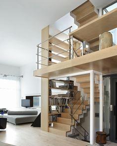 Vivienda Unifamiliar en Tamariu, Girona Dream Homes, My Dream Home, Future House, Stairs, Loft, Bed, Furniture, Home Decor, Home