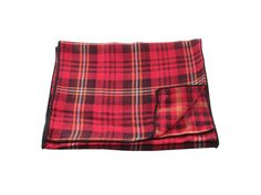 Red Plaid Double Sided Cotton Scarf