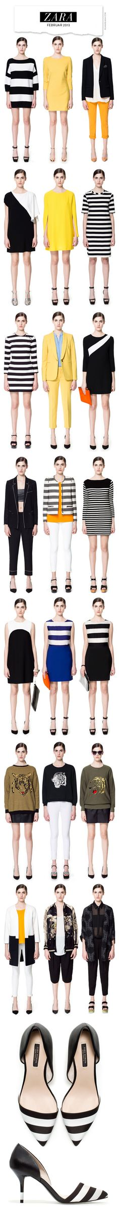 black and white, stripes and solids  love all the stripes!