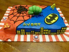 Avengers/Superhero themed brithday cake