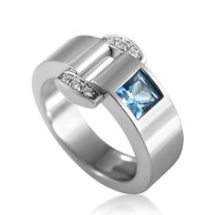 Piaget Miss Protocole 18K White Gold Diamond & Topaz Ring| Buy at TrueFacet