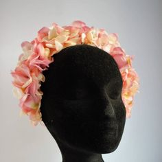 Peach, pink and ivory floral crown with dotted diamond detail. Floral Crown, Ivory, Peach, Trending Outfits, Unique Jewelry, Awesome, Handmade Gifts, Pink, Etsy