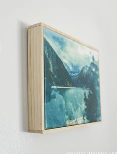 How to Create Easy Canvas Art from a Printed Photo & download the FREE Printable | upcycledtreasures.com