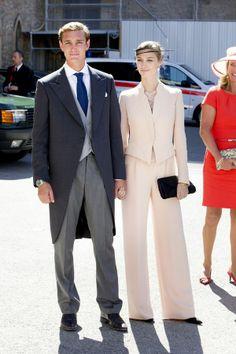 light pastel suit