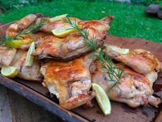 Pollo asado con limón y mostaza