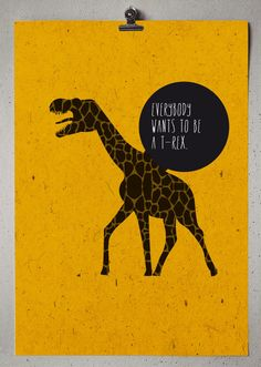 Everybody wants to be a T-Rex by Capi.to , via Behance