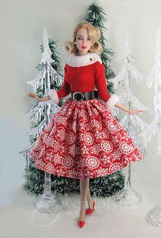 Christmas Snow, Miss Santa. Poppy photo via Flixr