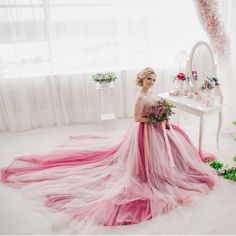 dbf6384dbd6 Chupeng Womens Half Lace Sleeves Wedding Bride Dress VBack Puffy Prom Dress  Ball Gown 2018  gt