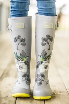 Pre-Order Joules Silver Bird Rain boots