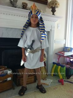 Diy egyptian costume looks like adult white t cording clever last minute pharaoh child halloween costume solutioingenieria Gallery
