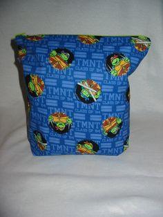 Teenage Mutant Ninja Turtles Project Bag by EatKnitandDye on Etsy