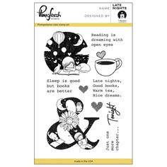 "Pinkfresh Studio Clear Stamp Set 4""x6"" - Late Nights"