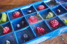 früchte als eiswürfel gefroren