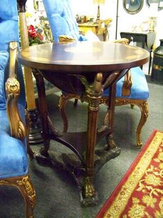 SOLD. ornate round end table. www.chconsignment.com