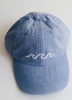 this waves baseball cap is perfect for spring break or for your summer outfit!