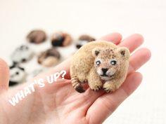 まるまる羊毛ブローチ ライオンの赤ちゃん【受注制作】
