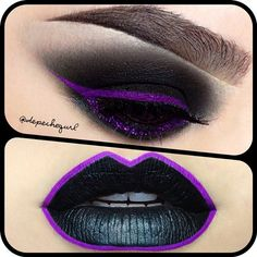 This is an ideal makeup for a Halloween (Superhero) costume. . .