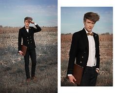 Zoltán Szilágyi - Zara Double Breasted Blazer, H&M Suspenders, Self Designed Bowtie, H&M Shirt, Zara Clutch, Pull & Bear Skinny Jeans, Zara Leather Balmores, Metallic Stars From My Fathers Military Collection - We're Pilots, Watching The Stars