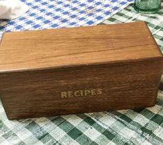 DIY Projects For Home Decorating: Thrift Store Recipe Box Made New! #SPiTchallenge #...