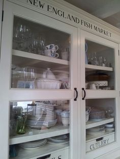 New England Fish Market cabinet