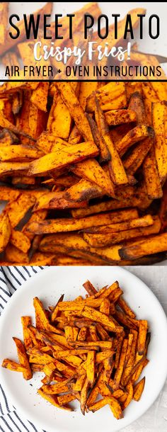 Sweet Potato Fries Air fryer Sweet potato air fryer fries will change your life. No joke these are the best ever! My kids down them! The post Sweet Potato Fries Air fryer appeared first on Rezepte. Air Fryer Recipes Potatoes, Air Fryer Oven Recipes, Air Fryer Recipes Dessert, Air Fryer Recipes Appetizers, Air Fryer Recipes Vegetables, Air Fryer Recipes Vegetarian, Air Fryer Baked Potato, Air Fryer Fries, Air Fryer French Fries