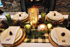 Thanksgiving decor . Rustic celebration  An open house for friends who are not able to go home for Thanksgiving.