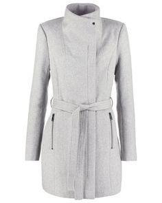 Vero Moda Damen VMCALL RICH Wollmantel / klassischer Mantel light grey melange - bei MYBESTBRANDS entdecken ✓