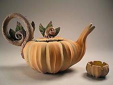 "Cinderella's Midnight Tea by Nancy Y. Adams (Ceramic Teapot) (4"" x 5.5"")"